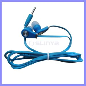 10 Colors Promotional Gift Cheap Headphones Earphones with Flat Cable for Mobile Phone Earphone Earpod pictures & photos