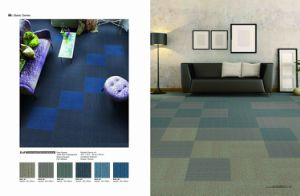 PP Modular Commercial Carpet Tiles with PVC Backing pictures & photos