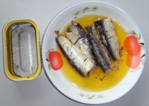 Hot Selling 125g Canned Mackerel in Oil pictures & photos