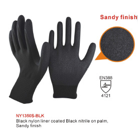 Nylon Knitted Nitrile Work Glove pictures & photos