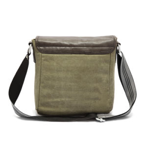 PU Leather Canvas Shoulder Man Bag (RS-H8158) pictures & photos