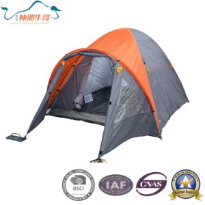 Double Layers Camping Tent Outdoor Tent for 3-4 Person
