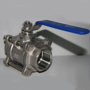 3-PC Ball Valve with NPT/Bsp Thread pictures & photos