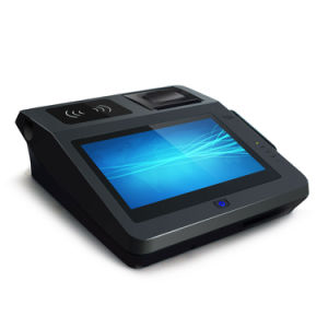 Ce FCC EMV Bis Certified Android All in One POS Terminal with Qr Barcode Scanner pictures & photos