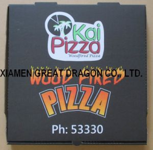 Locking Corners Pizza Box for Stability and Durability (PB160587) pictures & photos
