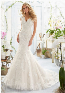 2016 off-Shoulder Lace Beaded Bridal Wedding Gowns 2806 pictures & photos