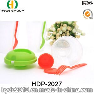 High Quality Salad Shaker Cup with Dressing Container (HDP-2027) pictures & photos