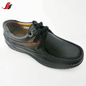 High Quality Men′s Flats Casual Leather Shoes Supplier (FMF2) pictures & photos