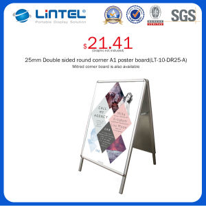 32mm Round Corner Banner Stand Aluminum a Frame Sign (LT-10-SR-32-A) pictures & photos