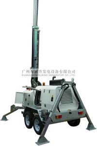 Guangzhou Mobile Light Tower AC Three Phase Soundproof Diesel Generator