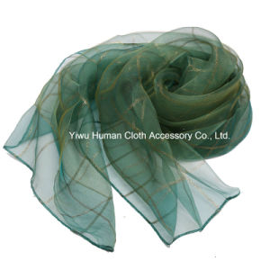 Fashion Ladies Classic Grid Scarf Voile for Spring Women Shawl pictures & photos