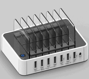 Multi 7 Port USB2.0 Hub USB Charger for Pad, iPhone 7 Plus pictures & photos