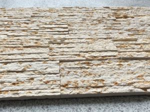 New Yellow Marble Culture Brick Stacked Stone for Wall pictures & photos