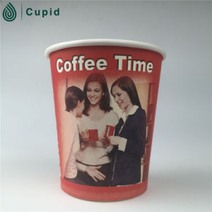 Custom Logo Printed Disposable Paper Cup with Lid, Double Wall Paper Cup pictures & photos