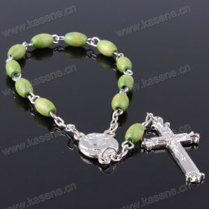High Quality Oval Wooden Beads Rosary Bracelet pictures & photos