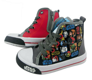Star Wars Boy Shoes Children MID-Cut Canvas Shoes Boots (CVS14-206) pictures & photos
