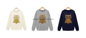 Fashion Cute Women Owl Printing Long Sleeve Hoodie Sweater Ladies Wear pictures & photos