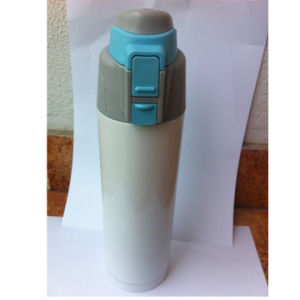 500ml Double-Wall 304 Stainless Steel Vacuum Sports Water Bottle with Button Lid