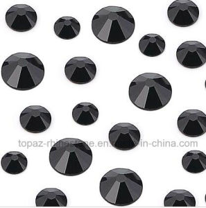 Ss6 Jet Black Nail Art Design Non Hot Fix Crystal Strass (FB-jet black) pictures & photos