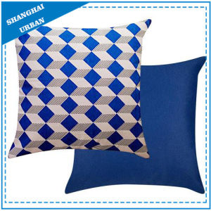 Indigo Diamond Shape Printed Polyester Throw Pillow pictures & photos