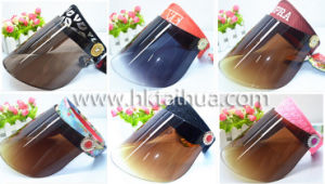Black Plastic UV Protection Sun Visor Cap with Thp-003 pictures & photos