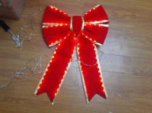 Red Lighted Christmas Bows Wholesale pictures & photos