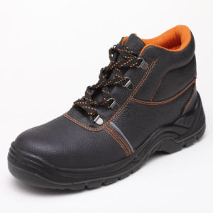 Popular Industrial PU Footwear Leather Safety Worker Shoes pictures & photos