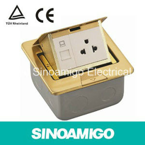 Brass Material Pop up Type Contractor Floor Box 15A Socket pictures & photos