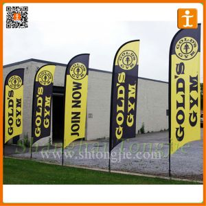 Flying Promotional Straight Feather Flags (TJ-45) pictures & photos