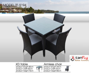 4 Seat Contemporary Rattan Outdoor Garden Furniture Dining Set pictures & photos