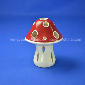 Glazed Mushroom Ceramic Home Decoration Candle Holder pictures & photos