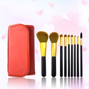 9 Pieces Luxury Classic Professional Gold Weasel Tail Hair Makeup Brush