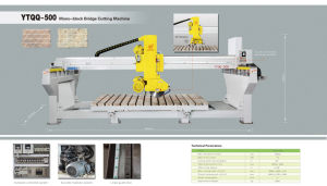 Ytqq-500 Mono-Block Granite Slab Cutting Machine-Granite Marble Stone Laser Cutting Machinery pictures & photos