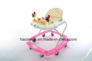 Plastic Baby Walkers with 8 Wheels Adjustable Baby Walker pictures & photos