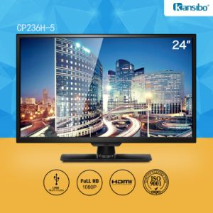 23.6-Inch Cheap Price E-LED TV with Black Narrow Bezel, OEM pictures & photos