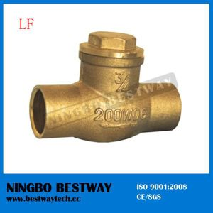 Horizontal Type Lead Free Brass Cxc Swing Check Valve pictures & photos