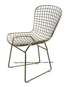 Modern Dining Restaurant Knock Down Metal Wire Chair pictures & photos