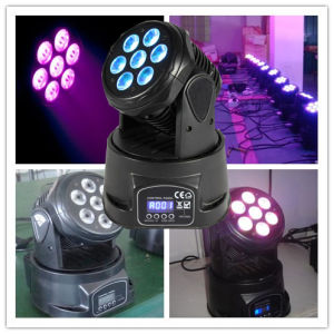 High Brightness 10W Moving Head Mini LED Wash Light pictures & photos