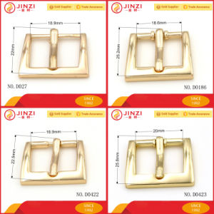 Jinzi Good Quality Custom Metal Pin Belt Buckle for Bags Coat Shoes pictures & photos
