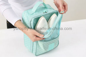 High Quality Portable Waterproof Material Travel Shoes Bags, Shoe Storage pictures & photos