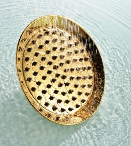 "Antique Classical 8"" Brass Round Fixed Shower Head pictures & photos"
