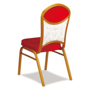 Hotel Furniture Banquet Room Gold Frame Stacking Metal Restaurant Banquet Chair pictures & photos