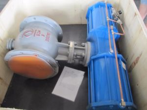 Double Eccentric Semi Ball Valve for Soda Ash Carbonation Tower pictures & photos