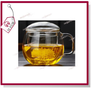 Thickening Heat-Resisting Round Tea Glass Cups Filterable with Lid pictures & photos