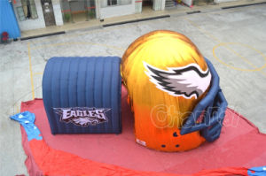 Golden Blue Inflatable Eagle Tunnel for Sport Game (Chad351-1) pictures & photos