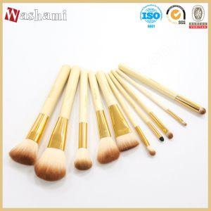 Washami Top Quality Makeup Brush Kit 10PCS Cosmetic Brush Set pictures & photos