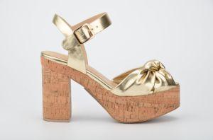 Lady Casual Cork Platform High Heels Women Sandals Shoes pictures & photos