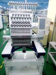 Single Head Cap/T-Shirt/ Flat Use Auto Computerized Embroidery Machine Wy1501CS pictures & photos