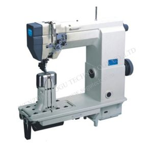 Sewing Machine with Wheel Feed Needle Need and Driven Roller Presser pictures & photos