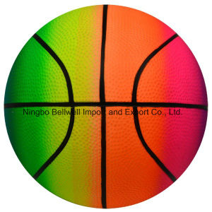High Quality Rainbow Basketball PVC Inflate Toy Ball pictures & photos